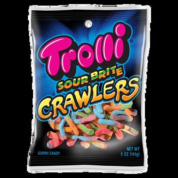 Trolli, Sour Brite Crawlers, 5.0 oz. Peg Bag (1 Count)