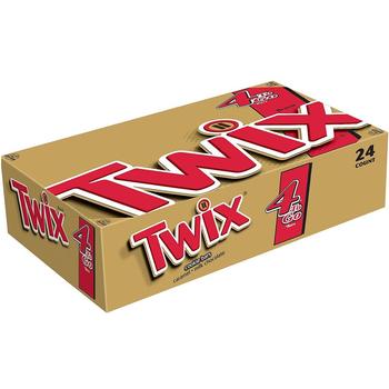 Twix, Cookie Bar, Caramel + Milk Chocolate, Sharing Size, 3.02 oz. Bars (24 Count)
