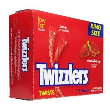 Twizzlers, Strawberry Twists, KING SIZE, 5 oz. (15 Count)