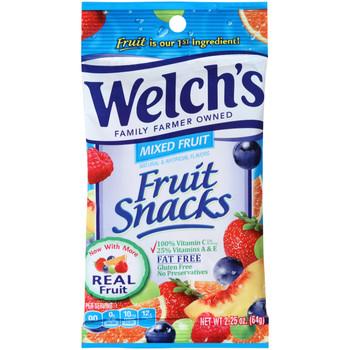 Welch's Fruit Snacks, Mixed Fruit, 2.25 oz. Peg Bag (1 Count)