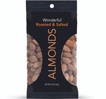 Wonderful Almonds, Roasted & Salted, 5.0 oz. Peg Bag (1 Count)
