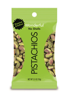 Wonderful Pistachios, Shelled, 2.5 oz. Peg Bag (1 Count)