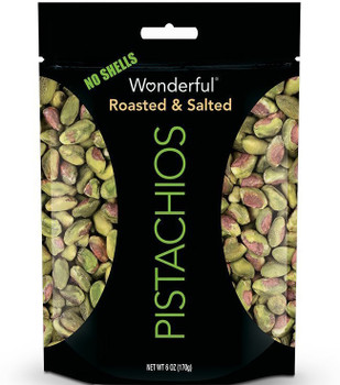 Wonderful Pistachios, Shelled, Roasted & Salted, 6.0 oz. Gusseted Peg Bag (1 Count)