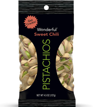 Wonderful Pistachios, Sweet Chili, 4.5 oz. Peg Bag (1 Count)