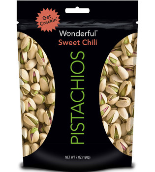 Wonderful Pistachios, Sweet Chili, 7.0 oz. Gusseted Peg Bag (1 Count)