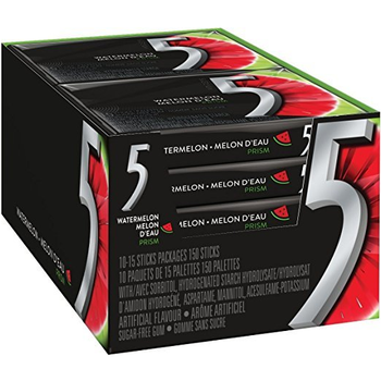 Wrigley's 5, Prism, Electric Watermelon, 13 Piece Packs (10 Count)