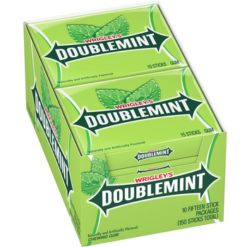Wrigley's Doublemint, 15 Piece Packs (10 Count)