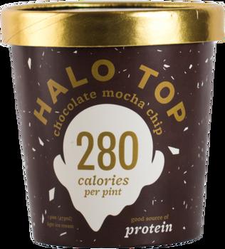 Halo Top, Chocolate Mocha Chip Ice Cream, Pint (1 Count)