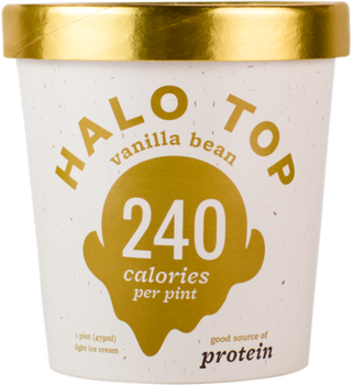Halo Top, Vanilla Bean Ice Cream, Pint (1 Count)