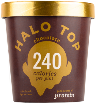 Halo Top, Chocolate Ice Cream, Pint (1 Count)