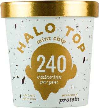 Halo Top, Mint Chip Ice Cream, Pint (1 Count)