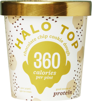 Halo Top, Chocolate Chip Cookie Dough Ice Cream, Pint (1 Count)