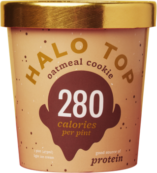 Halo Top, Oatmeal Cookie Ice Cream, Pint (1 Count)