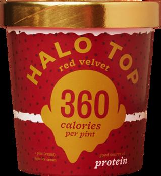 Halo Top, Red Velvet Ice Cream, Pint (1 Count)