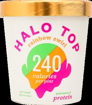 Halo Top, Rainbow Swirl Ice Cream, Pint (1 Count)