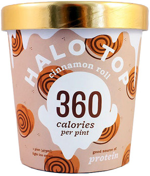 Halo Top, Cinnamon Roll Ice Cream, Pint (1 Count)