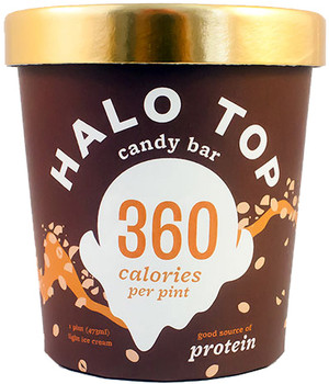 Halo Top, Candy Bar Ice Cream, Pint (1 Count)