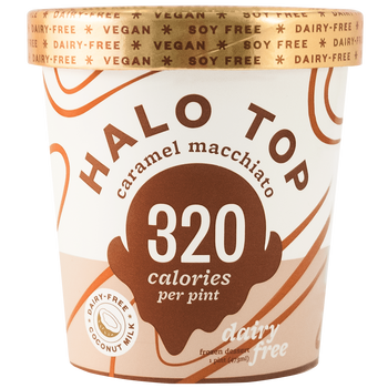 Halo Top, NON-DAIRY Caramel Macchiato Ice Cream, Pint (1 Count)