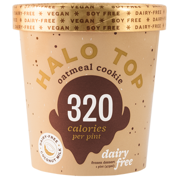 Halo Top, NON-DAIRY Oatmeal Cookie Ice Cream, Pint (1 Count)