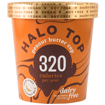 Halo Top, NON-DAIRY Peanut Butter Cup Ice Cream, Pint (1 Count)