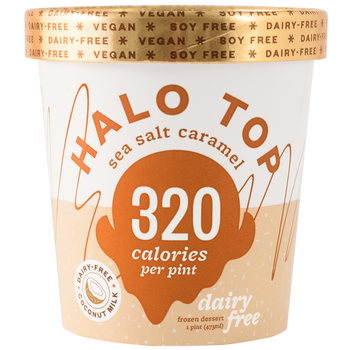Halo Top, NON-DAIRY Sea Salt Caramel Ice Cream, Pint (1 Count)