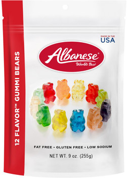 Albanese, 12-Flavor Gummi Bears, 9.0 oz. Peg Bag (1 Count)