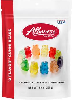 Albanese, 12-Flavor Gummi Bears, 9.0 oz. Peg Bag (1 Count)