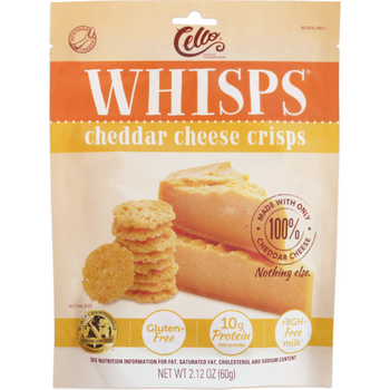 Cello Whisps, Cheddar Cheese Crisps, 2.12 oz. Bag (1 Count)
