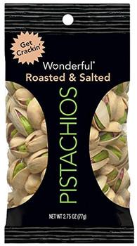 Wonderful Pistachios, Roasted & Salted, 2.75 oz. Peg Bag (1 Count)