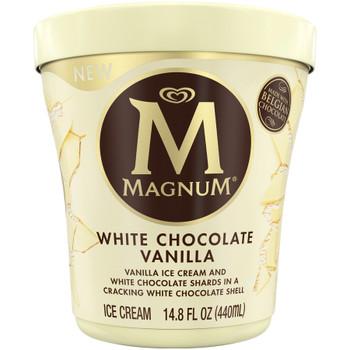 Magnum White Chocolate Vanilla Ice Cream, 14.8 Oz Pint (1 Count)