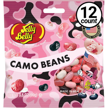 Jelly Belly, Pink Camo, 3.5 oz. Bag (12 Count)