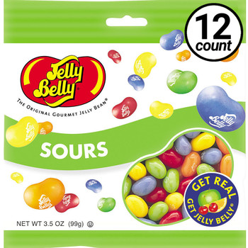 Jelly Belly, Sours, 3.5 oz. Bag (12 Count)