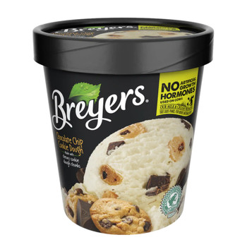 Breyers Chocolate Chip Cookie Dough, Pint (1 Count)
