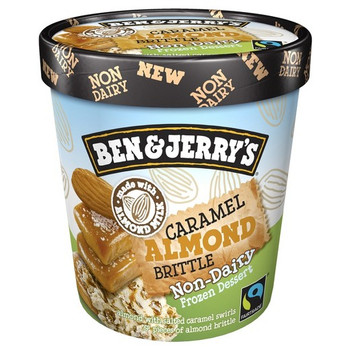 Ben & Jerry's, NON-DAIRY Caramel Almond Brittle Ice Cream, Pint (1 Count)