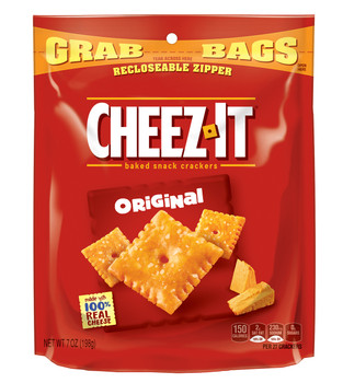 Cheez-It, Cheese Crackers, Original, 7.0. Bag (1 Count)