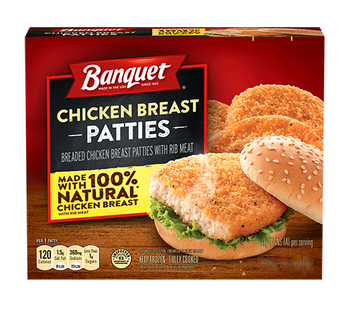 Banquet, Chicken Patties Box, 14.4 oz. Microwavable (1 Count)