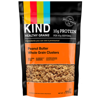 KIND Healthy Grains, Peanut Butter Whole Grain Clusters, 11.0 oz. bag (1 count)
