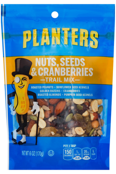 Planters Trail Mix, Nuts, Seeds & Cranberries, 6 Oz Gusseted Peg Bag (1 Count)