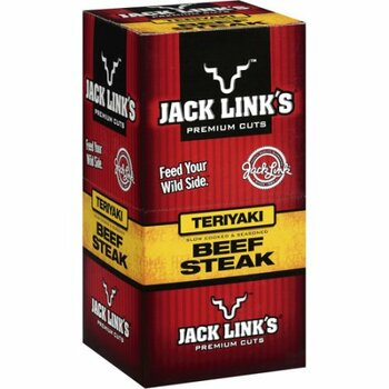 Jack Link's Beef Jerky, Teriyaki Beef Steak Strip, 1 Oz (10 Count)