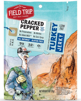 Field Trip, All-Natural Turkey Jerky, Cracked Pepper, 1.0 oz. Bag (1 Count)