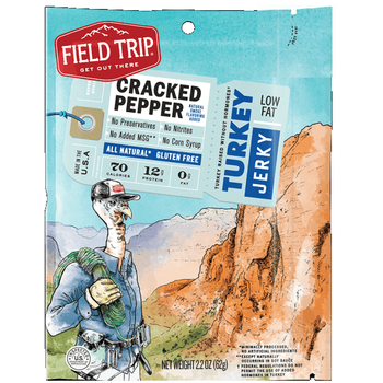Field Trip, All-Natural Turkey Jerky, Cracked Pepper, 2.2 oz. Bag (1 Count)