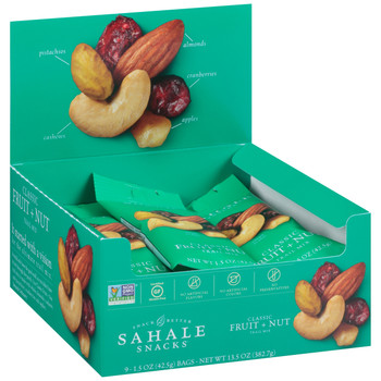 Sahale Snacks, Classic Fruit + Nut Trail Mix, 1.5 Oz Pouch (9 Count Case)