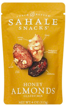 Sahale Snacks Honey Almonds Glazed Mix, 4 Oz Pouch (1 Count)