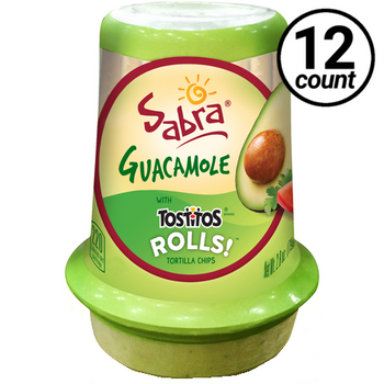 Sabra Guacamole with Tostitos Rolls, 2.8 Oz Grab & Go Cup (12 Count)