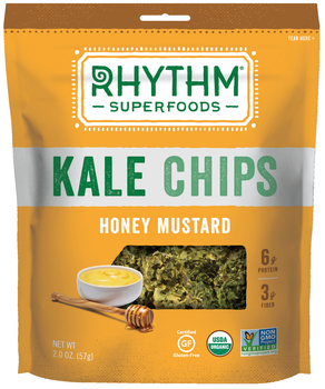 Rhythm Superfoods, Kale Chips, Honey Mustard, 2 Oz Bag (1 Count)