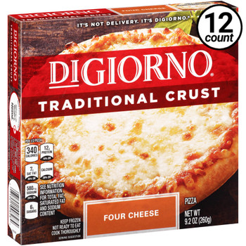 DiGiorno, Traditional Crust, Four Cheese, 9.2 oz. Pizza (12 Count)