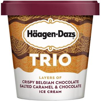 Haagen-Dazs, TRIO Salted Caramel Chocolate, Pint (1 Count)