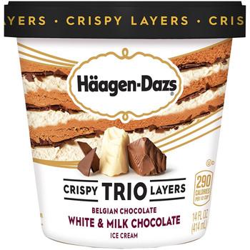 Haagen-Dazs, TRIO Tripple Chocolate, Pint (1 Count)