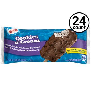 Nestle Cookies N' Cream Frozen Bar, 3 Oz (24 Count)