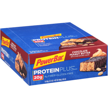 PowerBar Protein Plus, Chocolate Peanut Butter, 2.12 oz. (15 count)